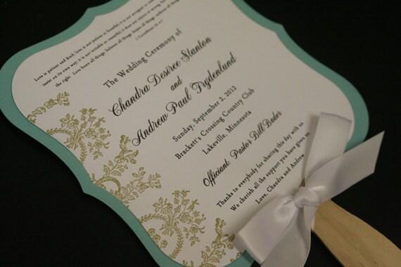 Items similar to Wedding Paddle Fan, Vintage Wedding Ceremony ...