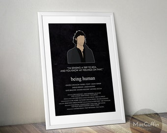 Being Human Heroes edition poster - Choose from 7 characters (Made to order)