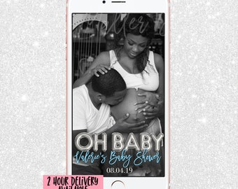 Baby Shower Snapchat Filter - Snap Chat GeoFilter Baby Shower- BabyShower Snapchat -Snapchat Geofilter Oh Baby - It's a Boy - It's a Girl