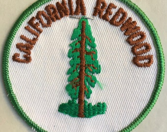 California Redwood Vintage Souvenir Travel Patch from Holm Patches