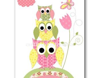 Owl Decor Owl Nursery Digital Print Instant Download Art Baby Nursery Decor Baby Girl Nursery Decor Download Digital Art Download 8x10 11X14