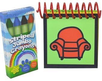 Blue's Clues Handy Dandy Notebook with box of 4 Crayons