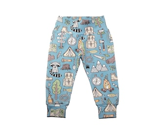 Boys Woodland Leggings - Boys Leggings - Camp Leggings - Toddler Leggings - Baby Leggings - Boys Pants - Baby Pants - Woodland Pants