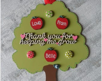 Personalised Hanging Teacher Tree End Of Term Gift Personalised