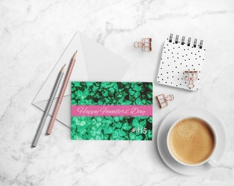Happy Founders' Day Card Set, Alpha Kappa Alpha Sorority-inspired A2 Folded Cards