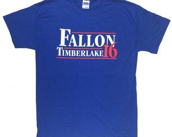 Fallon Timberlake 16 ROYAL BLUE Presidential Political Funny T Shirt