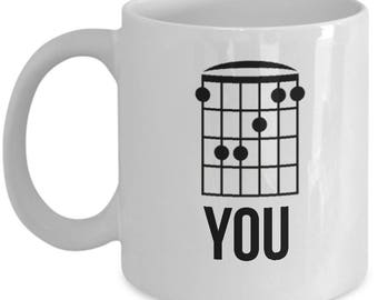 Eff You Sarcastic Funny Mug - Guitar Player Joke Gift - Secret Insult Mug