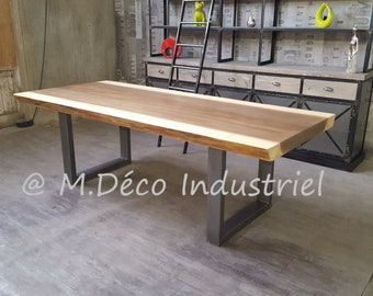 Dining table industrial style AYOUSS 8 cm