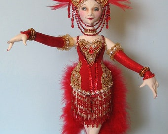 AB518E - Follies Showgirl  - Cloth Doll Making Sewing Pattern