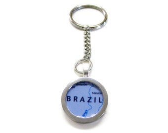 Brazil Map Keychain