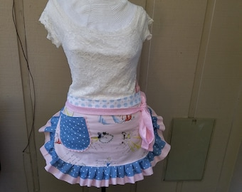 Aprons - Disney Aprons - Cinderella Aprons - Snow White Aprons - Teachers Gifts - Annies Attic Aprons - Pink Aprons - Princesses Word Badge
