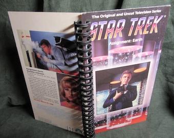 """Star Trek """"Assignment: Earth"""" VHS Box Notebook"""