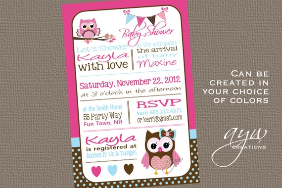 Owl Baby Shower Invitation Chevron Unique Owl Baby Shower Owl
