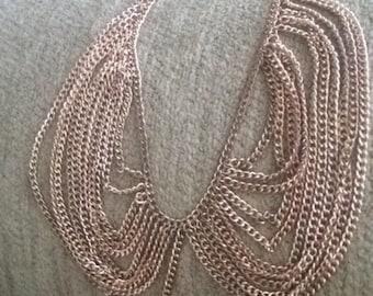Gold collar vintage necklace