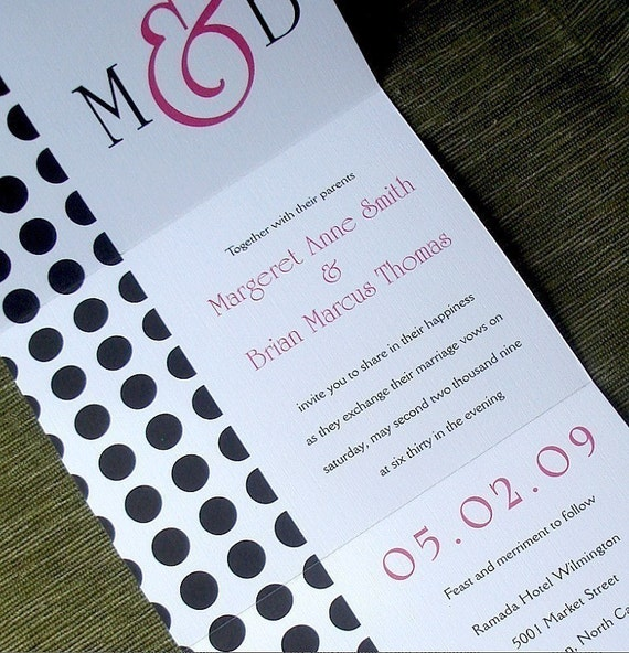 When Do You Send Invitations For Wedding: Modern Wedding Invitation Hot Pink Invitation Seal And Send