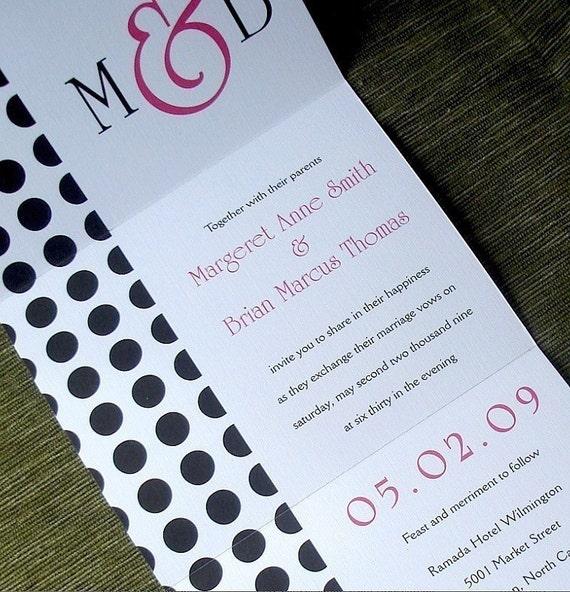 When Do You Send Invitations For A Wedding: Modern Wedding Invitation Hot Pink Invitation Seal And Send