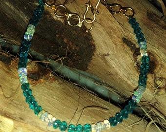 "Bracelet of Ethiopian Opal and Apetite, Adj. 7-8"""