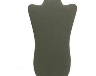Grey Velvet Necklace Display Padded Easel 8 5/8x14 1/8H