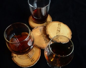 Bourbon Coasters Made from Recycled Wood