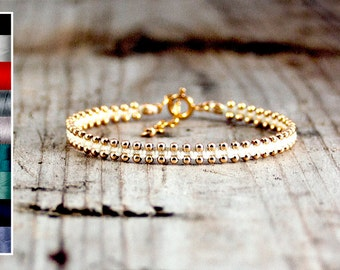 Beaded Friendship Bracelets / Stackable Bracelets / Gold bracelets for Women / Gold Bracelet Dainty / Jewelry handmade / Chic