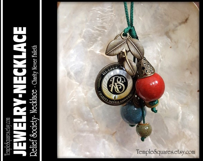 Relief Society Necklace Pendant LDS Jewelry Presidency, YW Young Women or Missionary Birthday or Christmas Gift.