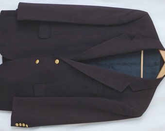 Aquascutum Classic Navy Blazer with Gold Buttons 40S