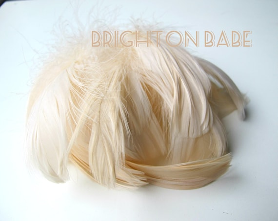 20 pcs Champagne feathers, Cream colour feathers, Ivory feathers, Natural feathers, Craft feathers, Goose feathers