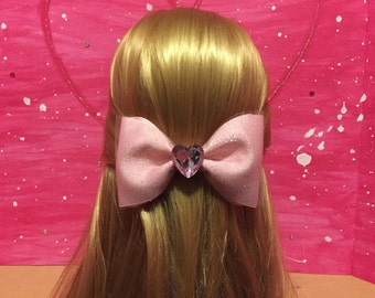 Sparkly, Pink Hair Bow