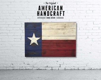Texas Flag - Handmade Distressed Wooden Flag