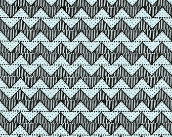 Zig Zag Blue, Quilting B's, J Wecker Frisch, Quilting Treasures, Sewing Fabric, Stripe Fabric, Cotton, Quilting