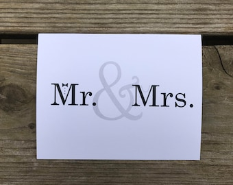 Mr. & Mrs. Thank You Cards - Set of 10
