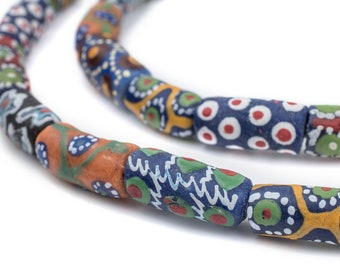 25 Ghana Krobo Beads - Powder Glass Beads - African Glass Beads - Jewelry Making Supplies - Made in Ghana ** (KRB-ELB-MIX-289)