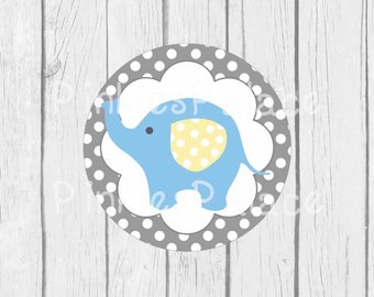 Baby Elephant Stickers Envelope Seals Boy Baby Shower Envelope Seal SES325