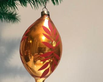 Vintage Hand Blown Made in USA Christmas Ornament