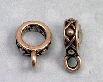 Antique Silver Round Legend Bail, TierraCast,2 Pc. TS1