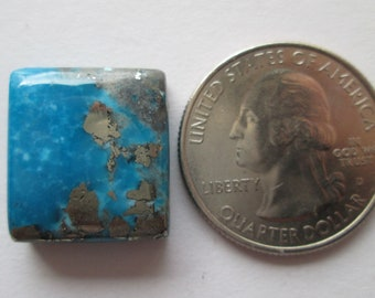 25.50 ct. Stabilized Persian Turquoise Cabochon Gemstone with Pyrite, 1BJ 011