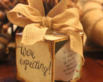 We're Expecting Ornament photo personalized and custom