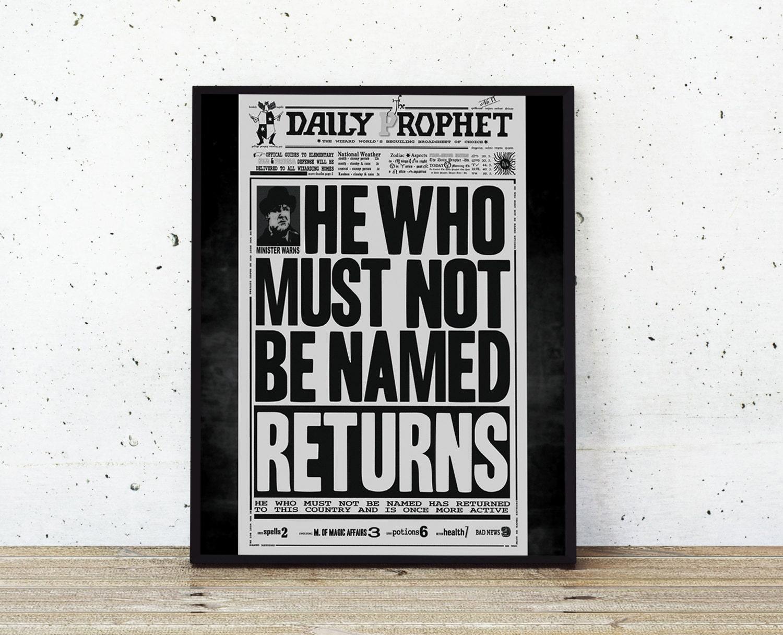 Der Tagesprophet druckbare Harry Potter Zeitung Kunstdruck