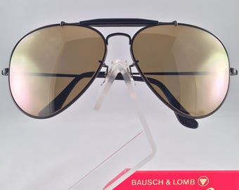 Vintage Ray Ban Bausch and Lomb Black The General 50th Anniversary RB50 62mm New