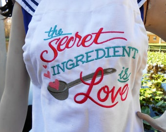 Personalized Apron, Kitchen Smock, Custom Embroidered Bib Apron, Handmade Cooking Apron Coverup, Kitchen Apron w/ Sayings, Unique Love Apron