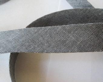Cotton bias tape 40 / 20 mm jeans folded - black