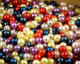 Pearly acrylic 5mm ❤ ❤ assortment 25 mix beads