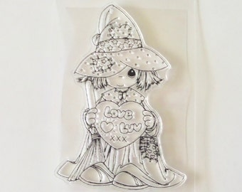 Witch, Love, Whimsical, Plastic, Rubber, Silicone, unmounted Stamps