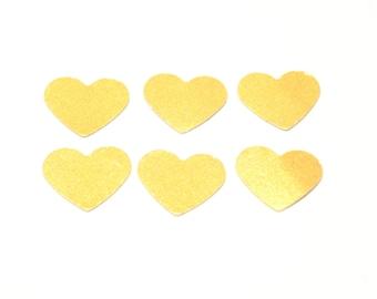 gold heart confetti, heart confetti, party decor, wedding confetti, party confetti, confetti