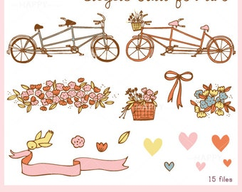 Bicycle Built for Two CLIP ART