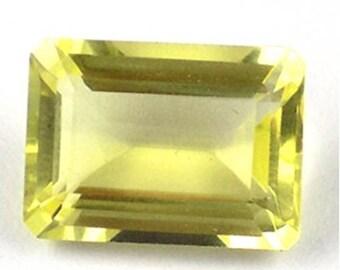 Genuine Natural Lemon Quartz AAA Octagon Loose Gemstones (6x4mm - 12x10mm)