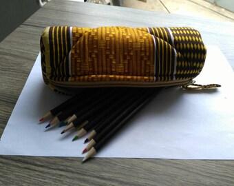 T009 - Kit school round wax (pencil box) canvas