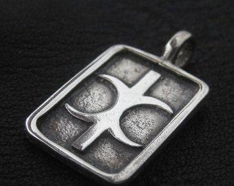 Silver Hand of Eris pendant