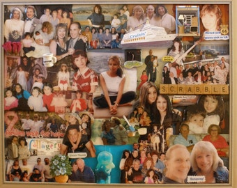 "Custom Personalized 3D Birthday Photo Collage (16""x20"" shown here)"