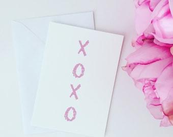 XO Hugs and Kisses Greeting Card Love Birthday Girl Anniversary Valentines Gift